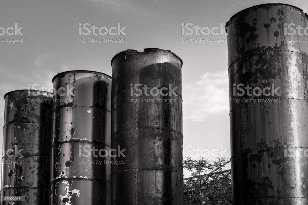 Storage of the Past: Domino Park stock photo