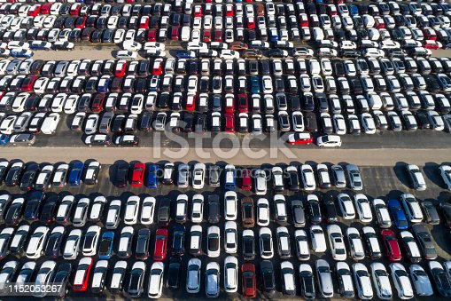 652712094 istock photo Storage Parking Lot Viewed from Above 1152053267