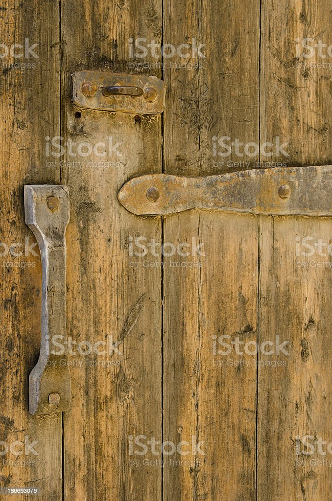 Storage Room Door at Bent's Old Fort National Historic Sit stock photo