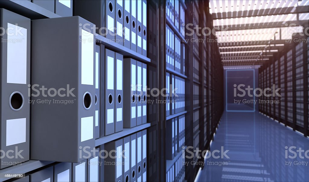 Storage room Files in the storage room 2015 Stock Photo