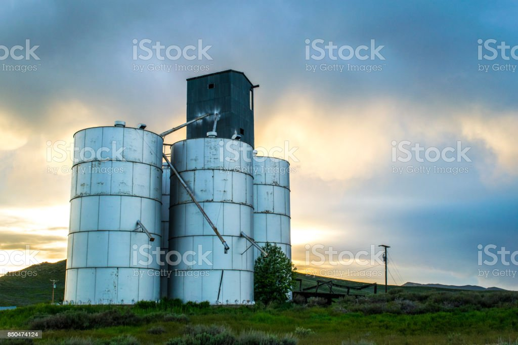 Storage Silo stock photo