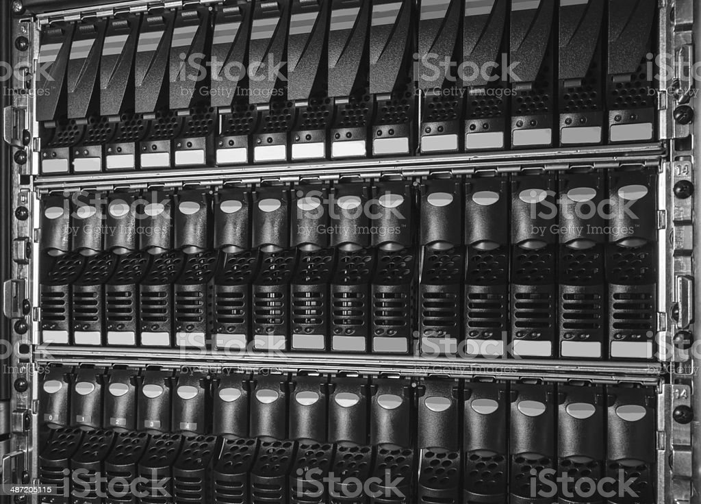 storage system in the data center royalty-free stock photo