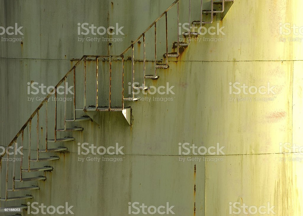 Storage Tank Stairs stock photo