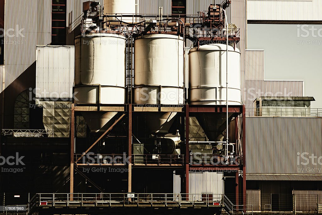 Storage Tanks in a Factory royalty-free stock photo