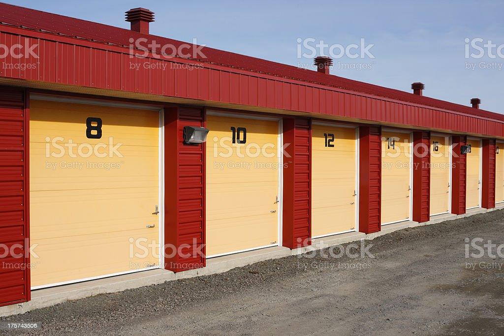 Storage units. royalty-free stock photo