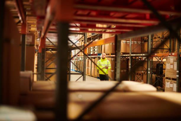 storage warehouse stockcheck stock photo