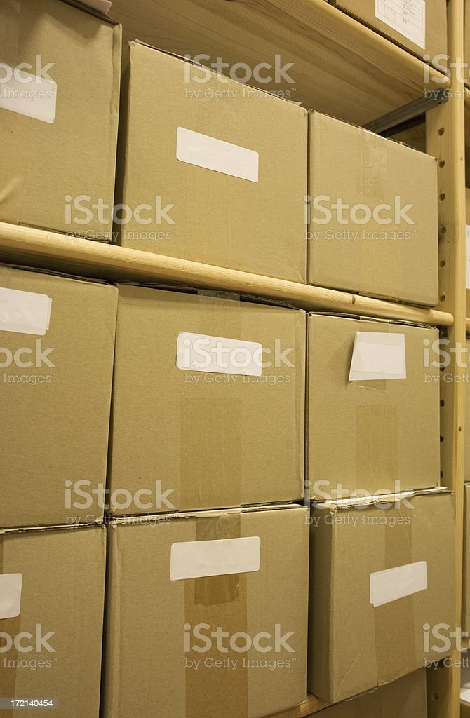 Storages boxes royalty-free stock photo