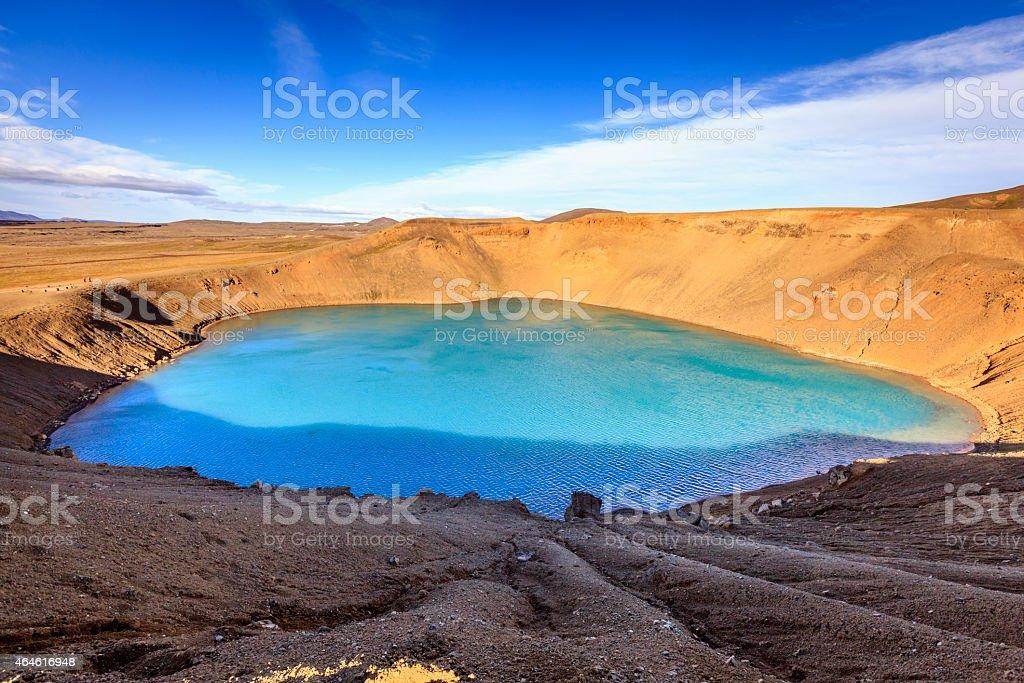 Stora-Viti crater stock photo