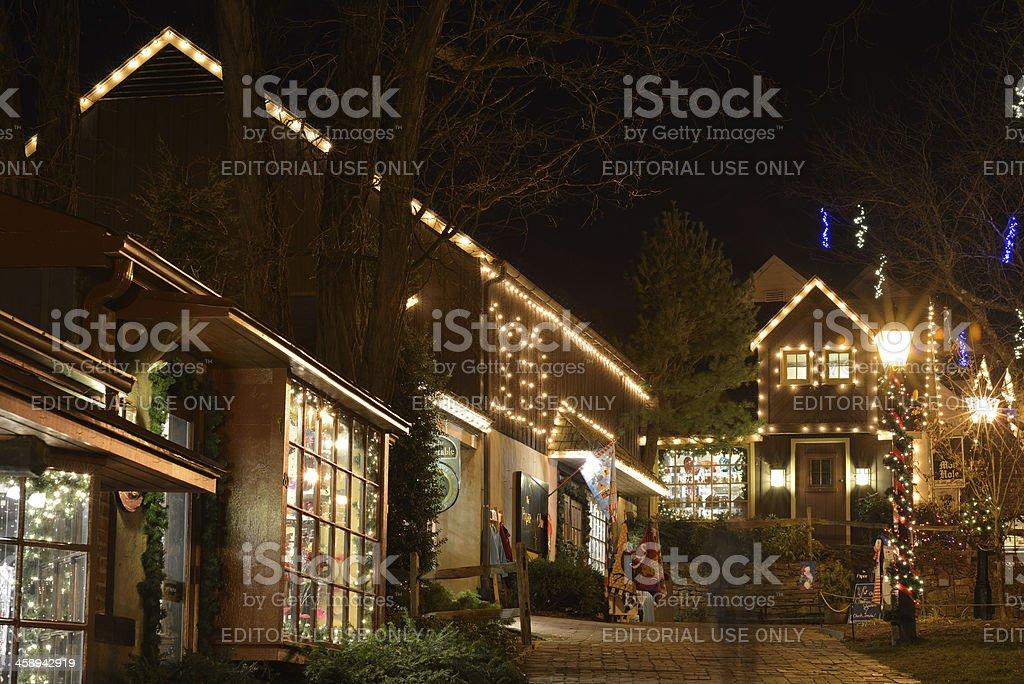 Store at Peddler's Village stock photo