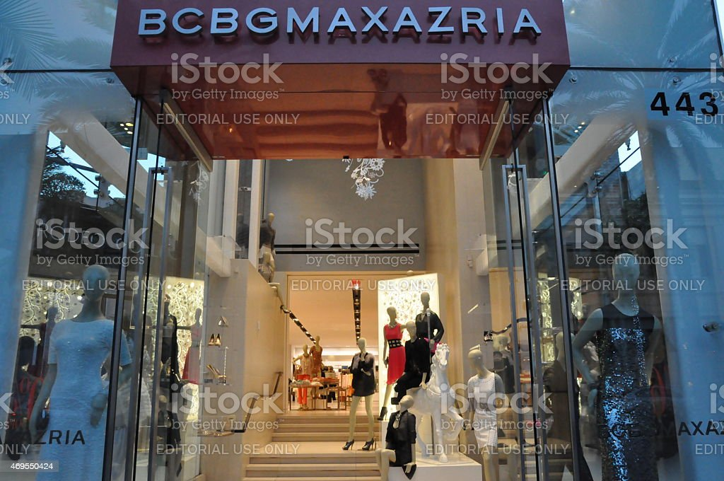 BCBGMAXAZRIA store at Rodeo Drive in Beverly Hills, California stock photo