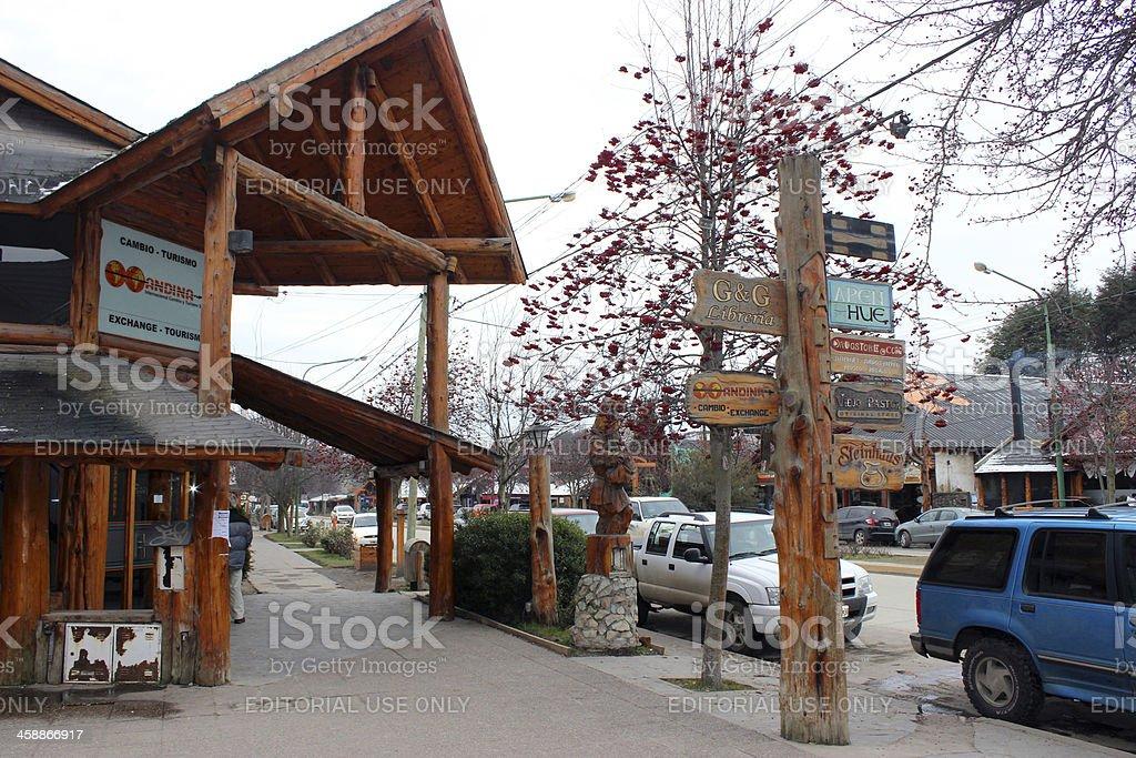 Store at Villa La Angostura City - Argentina stock photo