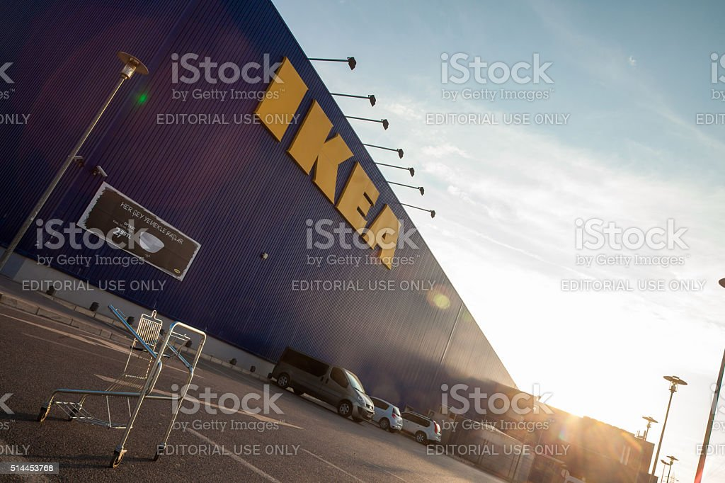 IKEA Store Building izmir Turkiye stock photo