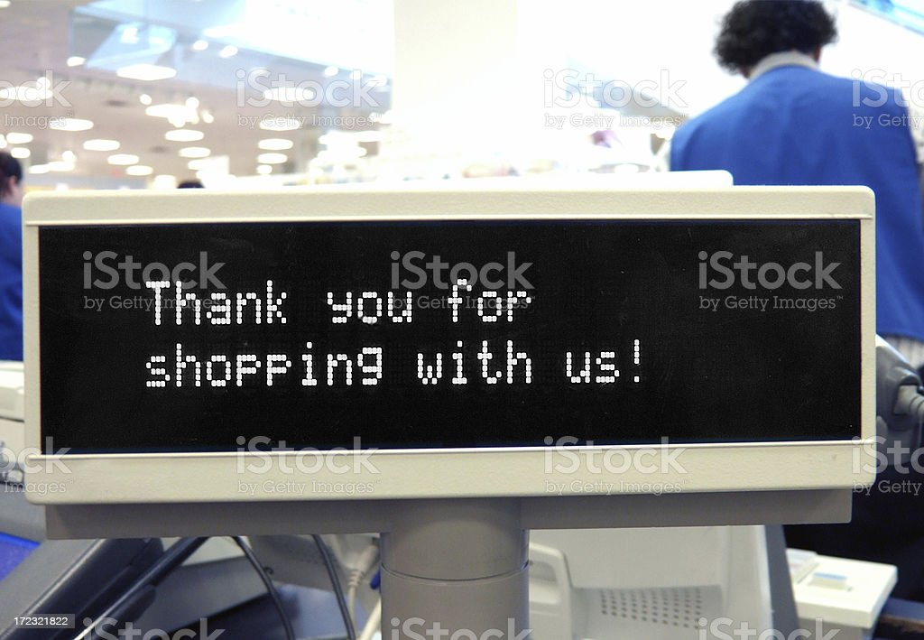 Store checkout royalty-free stock photo