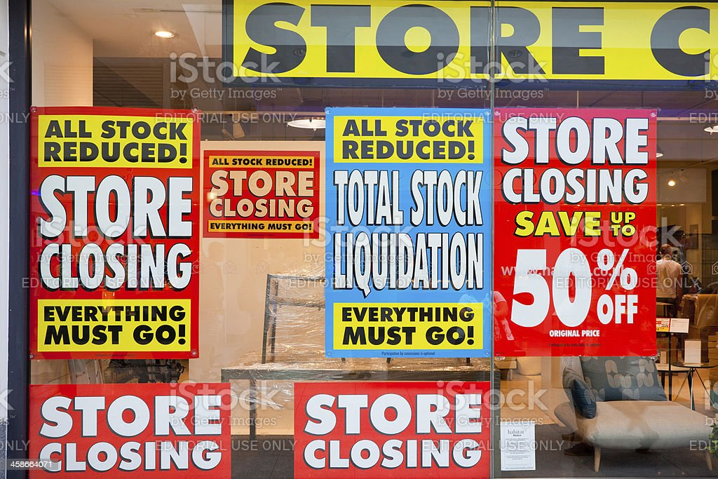 Store Closed, Financial Crisis stock photo
