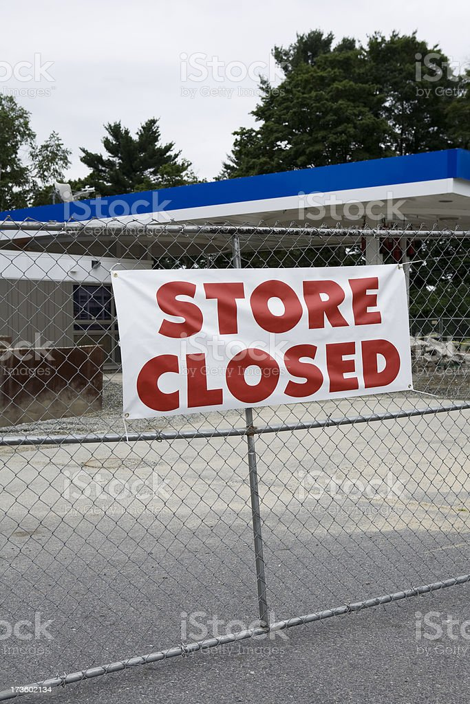 Store Closed Sign royalty-free stock photo