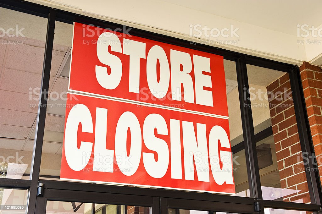 Store Closing Banner stock photo