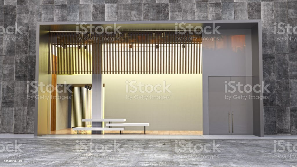 store display in moll 3d illustration royalty-free stock photo