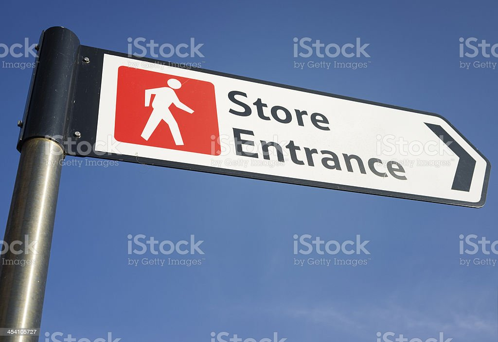 Store Entrance Sign royalty-free stock photo