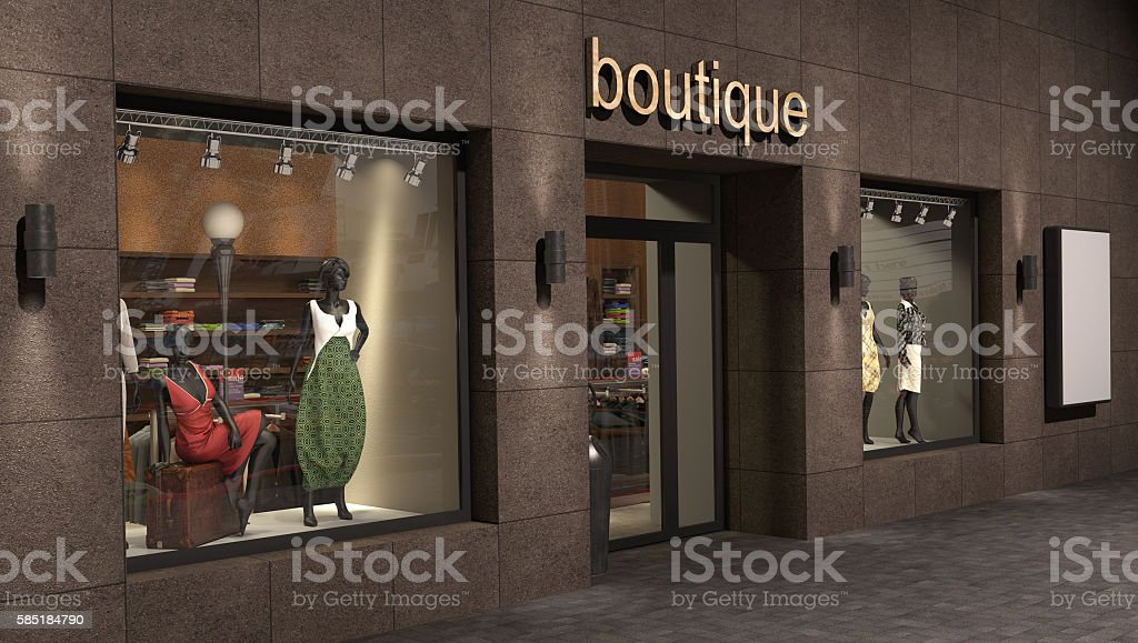 store exterior, 3d illustration stock photo