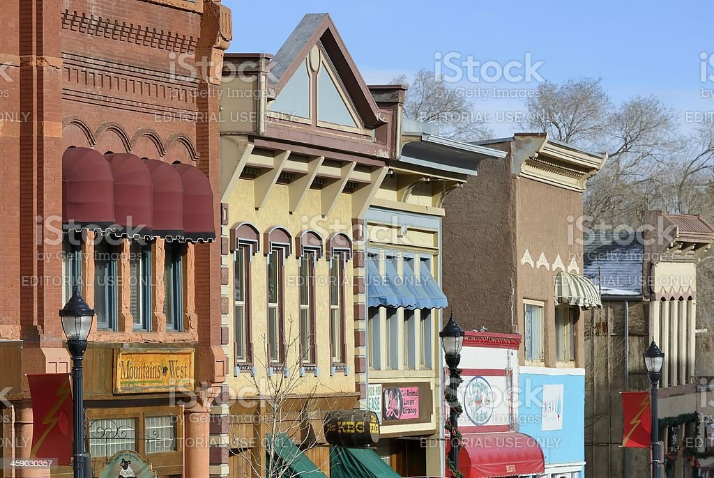 Store Facades, Manitou Springs royalty-free stock photo