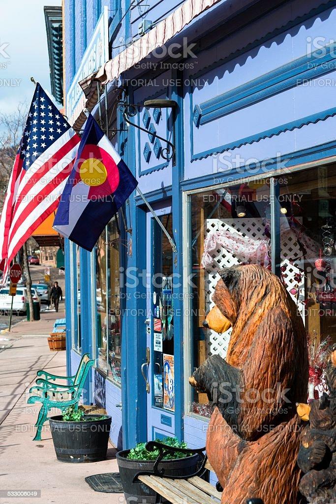 Store Facades, Manitou Springs stock photo
