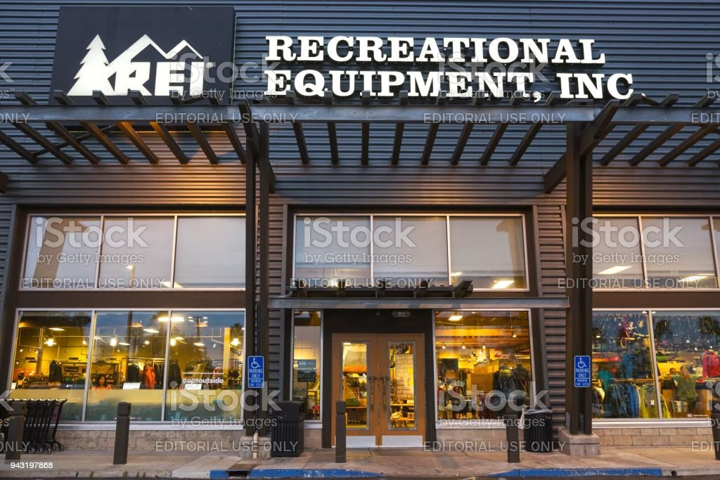 REI Store Front in San Diego California stock photo
