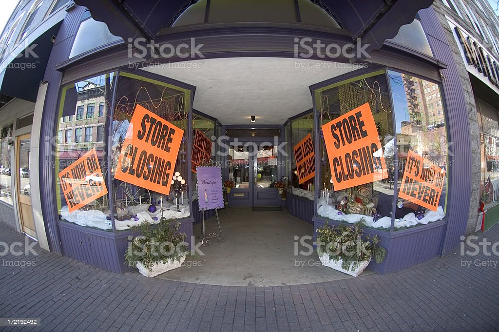 Store Going Out of Buisness royalty-free stock photo