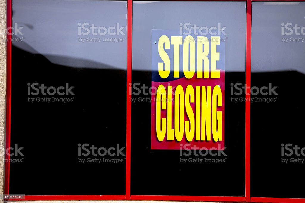 Store Going Out of Business royalty-free stock photo