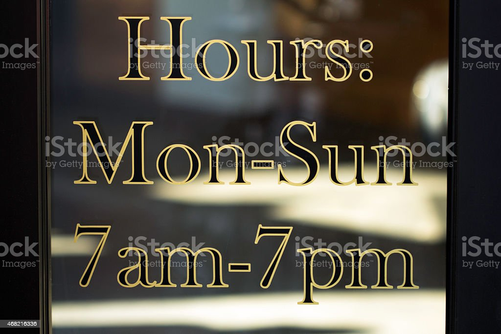 Store Hours stock photo