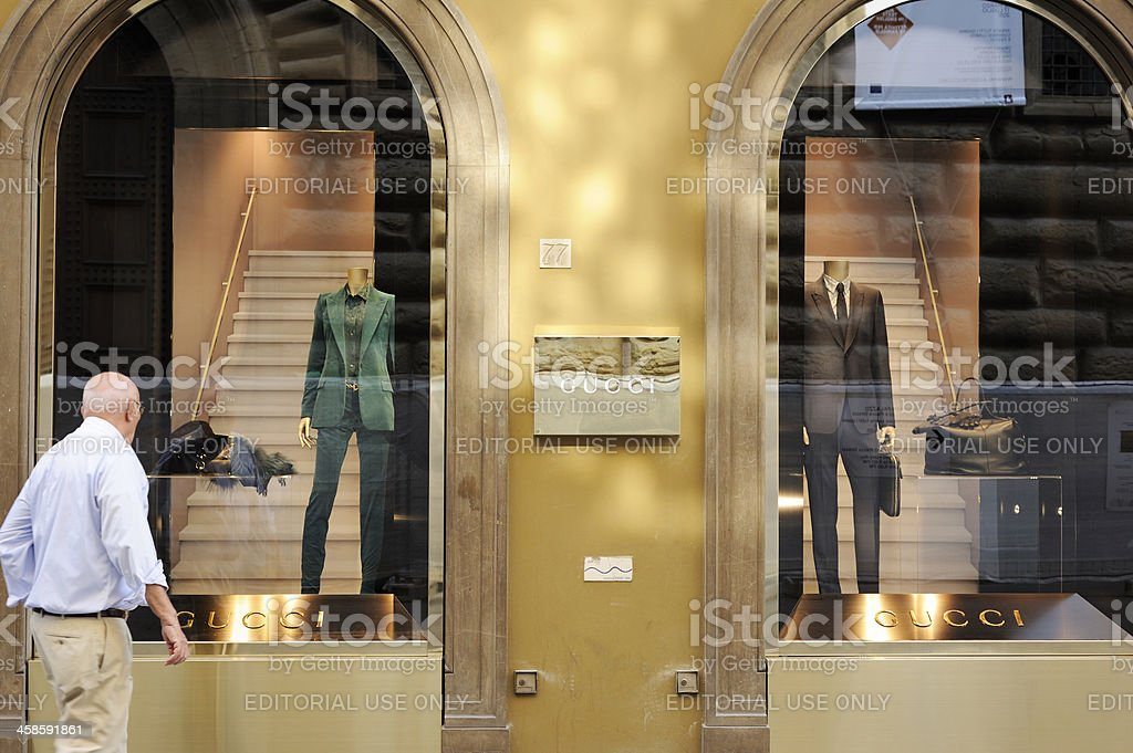 GUCCI Store in Florence stock photo