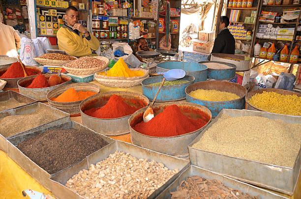 Store in moroccan market - foto de stock