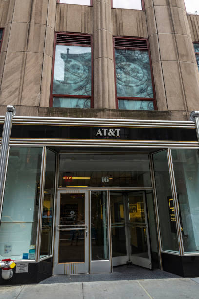AT&T store in New York City, USA stock photo