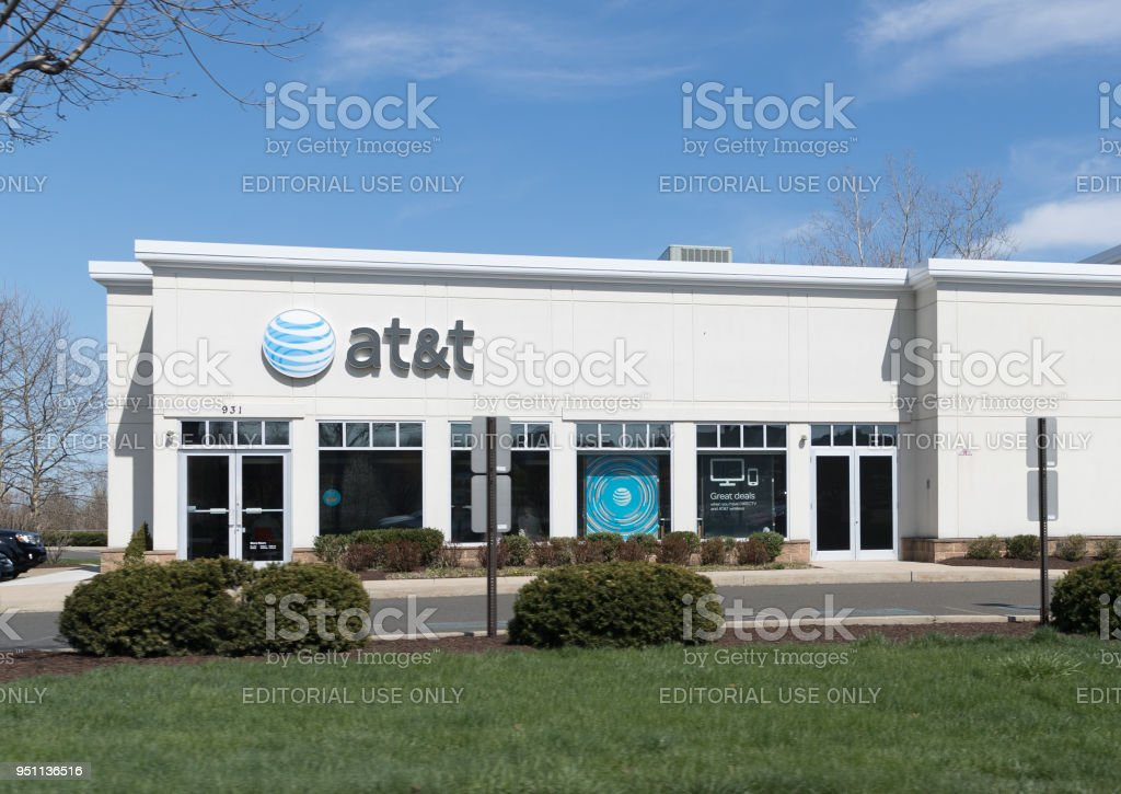 AT&T store in Philadelphia stock photo