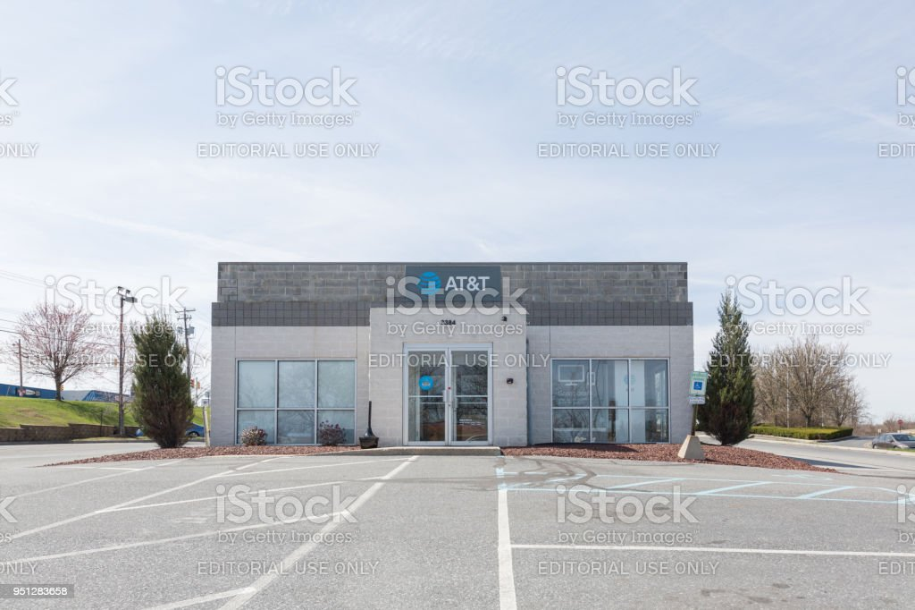 AT&T store in Philadelphia. stock photo
