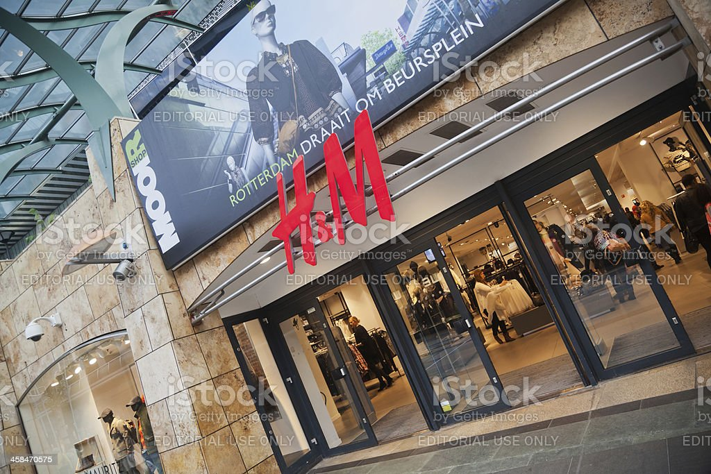 H&M store in Rotterdam stock photo