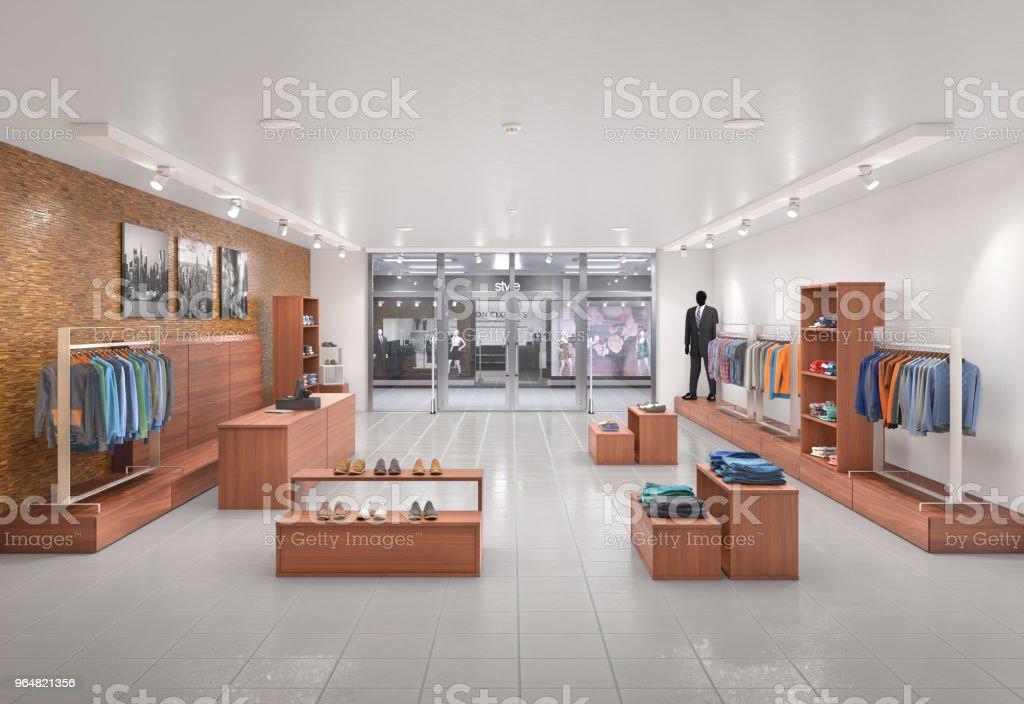 Store interior. 3d illustration royalty-free stock photo