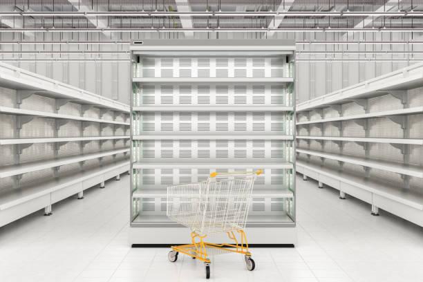 Intérieur du magasin avec panier vide - Photo
