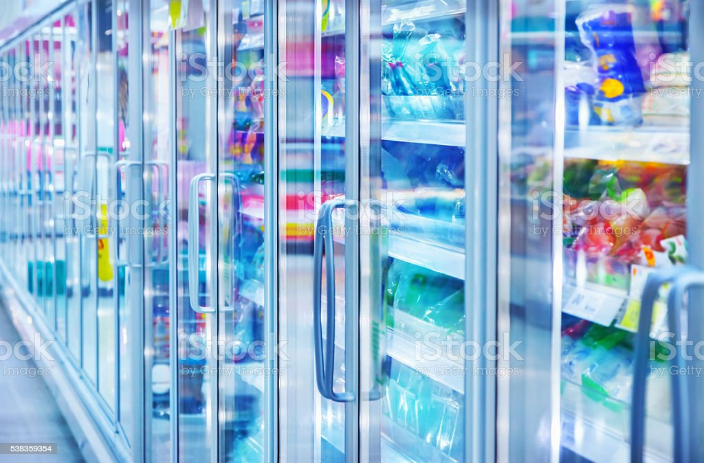 Store refrigerator stock photo
