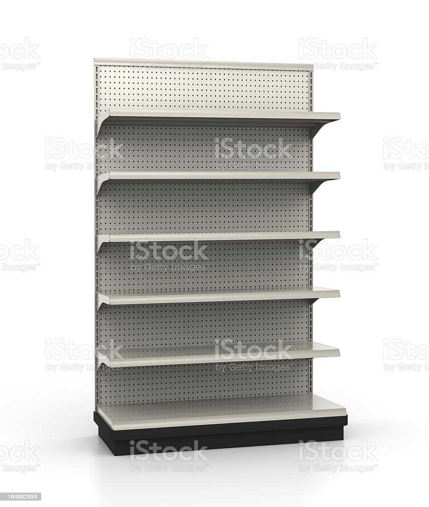 Store Shelves - End Cap at Slight Angle royalty-free stock photo