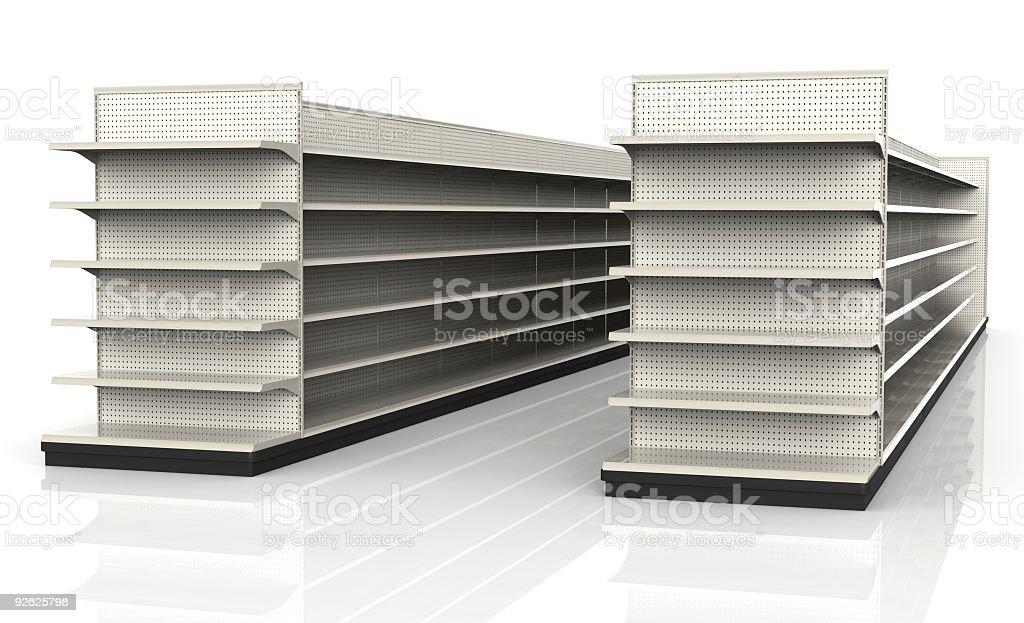 Almacenar estantes-Entorno minorista - foto de stock