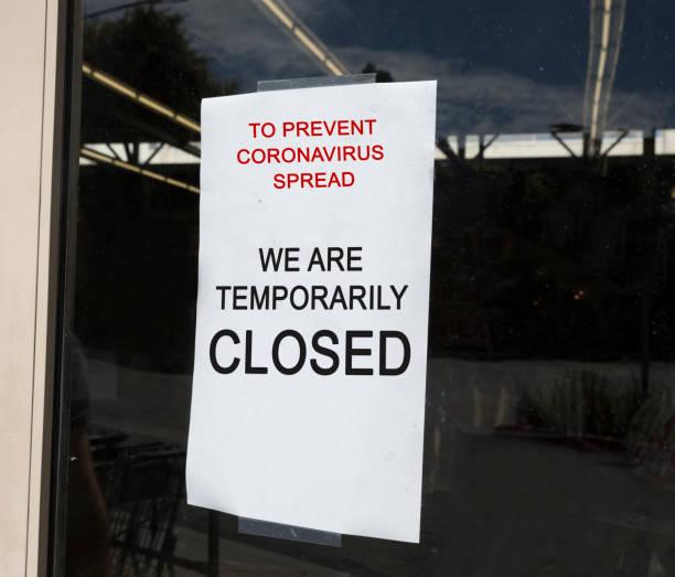 Speichern vorübergehend geschlossenes Zeichen – Foto