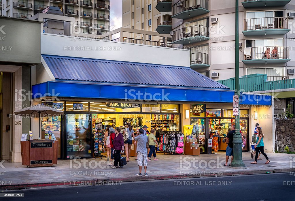 ABC store, Wakiki stock photo