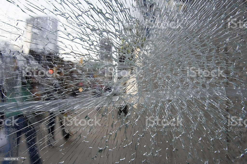 store window broken royalty-free stock photo