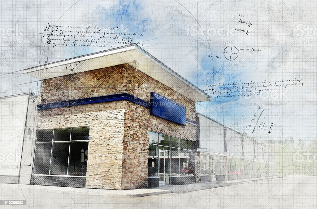 Store with Grunge Effect stock photo