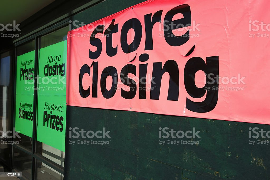 store_closing royalty-free stock photo