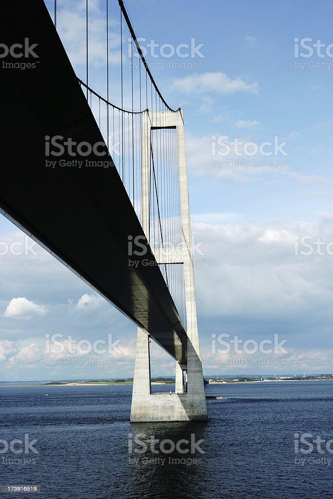 Storebaelt bridge, Denmark stock photo