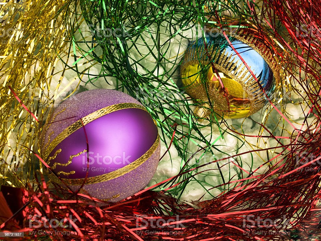 Stored Christmas decoration royalty-free stock photo