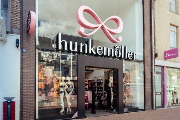 Storefront of Hunkemoller shop stock photo