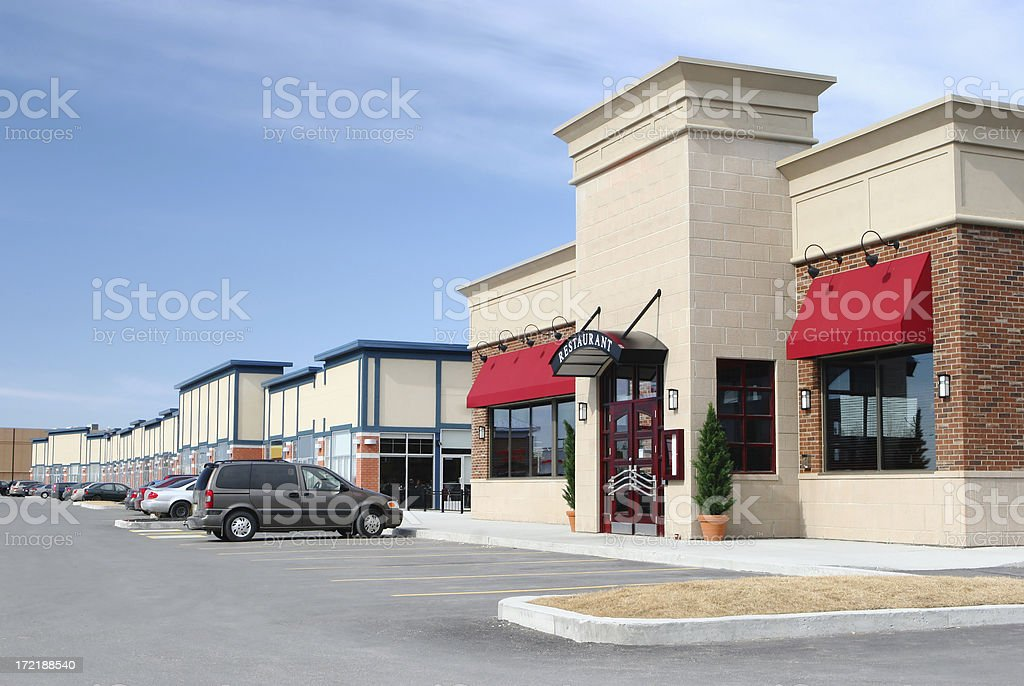 Stores and Restaurants Building Exteriors stock photo