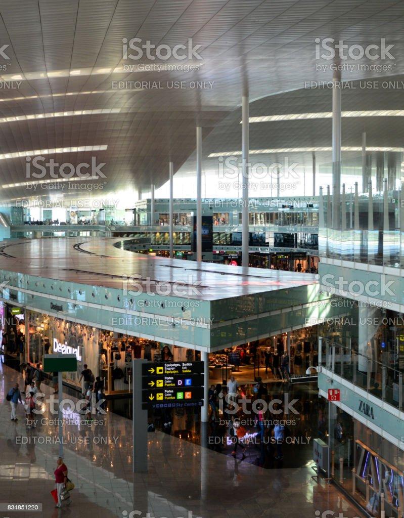 Stores at Barcelona-El Prat Airport, Catalonia, Spain stock photo